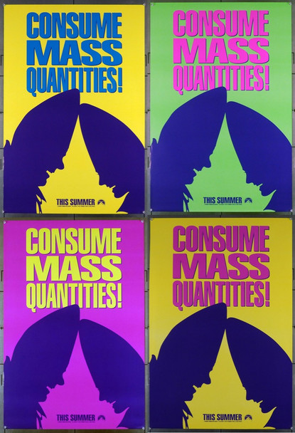 CONEHEADS, THE (1993) 5120 Original Paramount Pictures Advance One-Sheets   Four Different   Unfolded