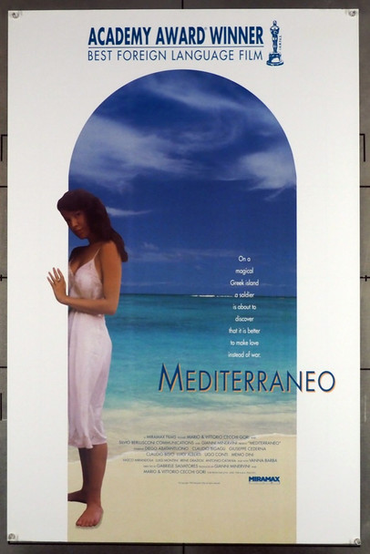 MEDITERRANEO (1992) 5314 Miramax One-Sheet Poster (27x41)  Rolled  Fine Plus Condition  Academy Award Winner!