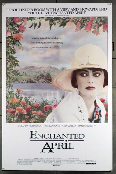 ENCHANTED APRIL (1992) 5310 Miramax Original U.S. One-Sheet Poster (27x41) Rolled  Fine Plus Condition