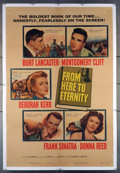 FROM HERE TO ETERNITY (1953) 28741 Columbia Pictures Original U.S. One-Sheet Poster (27x41) Linen Backed  Fine Condition, Restored