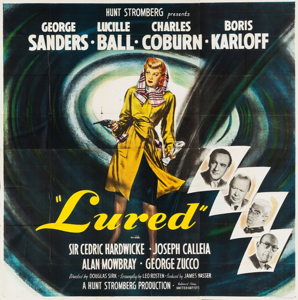 LURED (1947) 28810 United Artists Original U.S. Six-Sheet Poster (79x80) Fine Plus Condition