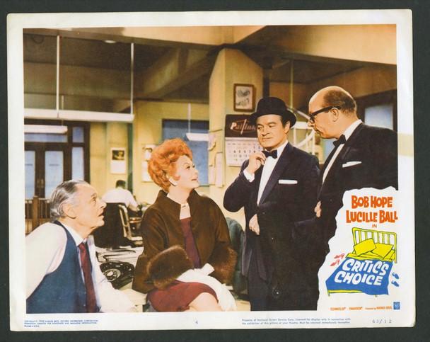 CRITIC'S CHOICE (1963) 28822 Warner Brothers Original U.S. Lobby Card (11x14)  Fine Plus Condition