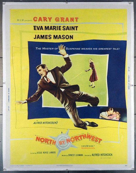 NORTH BY NORTHWEST (1959) 16357 MGM Original U.S. 30x40 Poster   Linen-Backed  Fine Plus Condition