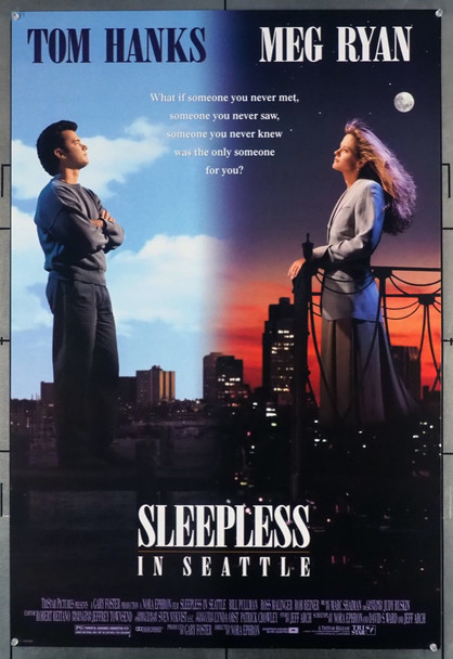 SLEEPLESS IN SEATTLE (1993) 5320   TOM HANKS   MEG RYAN   NORA EPHRON  Movie Poster Tri Star Original U.S. One-Sheet Poster (27x41) Rolled  Very Fine