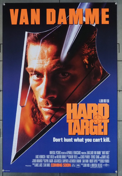 HARD TARGET (1993) 5322   JEAN-CLAUDE VAN DAMME Universal Pictures Original U.S. One-Sheet Poster (27x41) Rolled  Very Fine Condition