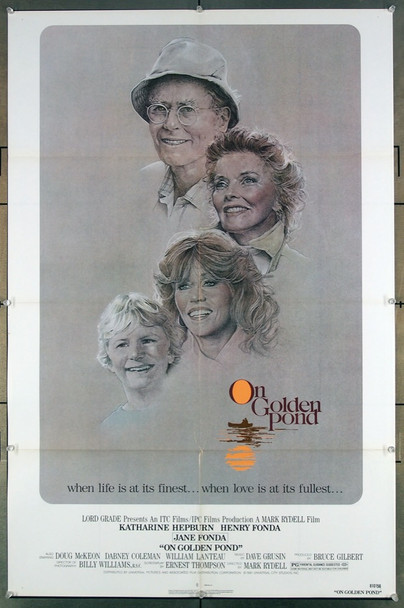 ON GOLDEN POND (1981) 27284 Universal PIctures Original U.S. One-Sheet Poster (27x41) Folded  Fine Plus Condition