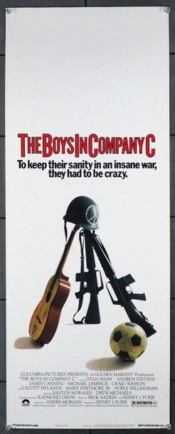 BOYS IN COMPANY C, THE (1978) 12313 Columbia Pictures Original Insert Poster (14x36) Very Fine Condition