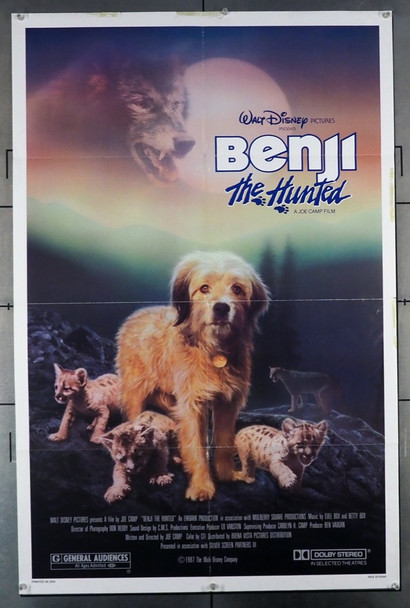BENJI THE HUNTED  (1987) 26146  	 Walt Disney Company Original U.S. One-Sheet Poster (27x41) Average Used Condition   BENJI