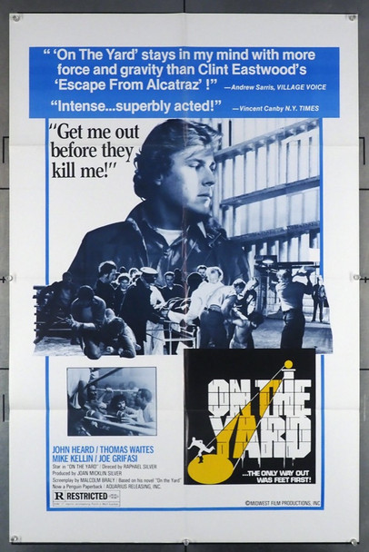 ON THE YARD (1978) 11654   JOHN HEARD Midwest Films Original U.S. One-Sheet Poster (27x41) Folded  Fine Plus Condition