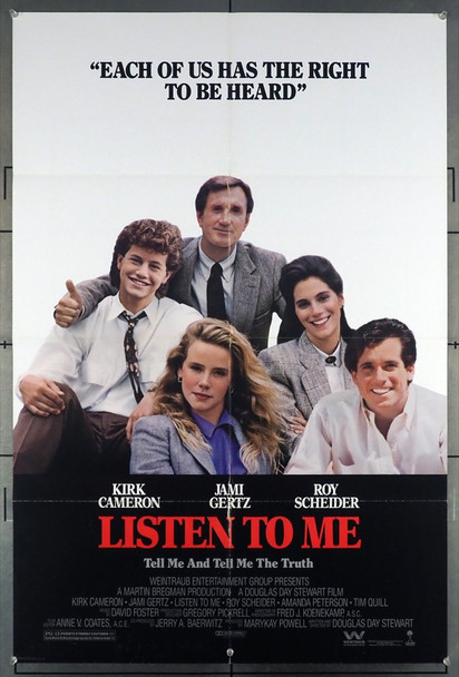 LISTEN TO ME (1989) 11653    Columbia PIctures Original U.S. One-Sheet Poster (27x41) Folded  Fine Plus Condition
