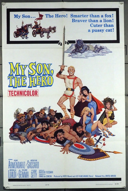 MY SON THE HERO (1962)  United Artists Original U.S. One-Sheet Poster (27x41) Folded  Fine Condition  Theater-Used