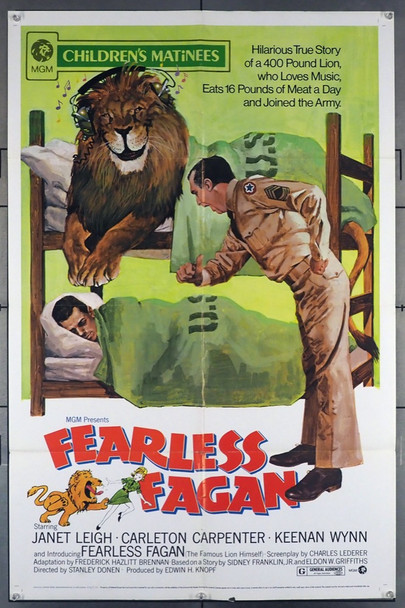FEARLESS FAGAN (1952) 11652 MGM Original U.S. One-Sheet Poster (27x41) Folded  Average Used Condition  Re-release of 1973
