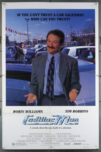 CADILLAC MAN (1990) 11650 Orion Pictures Original U.S. One-Sheet Poster (27x41)  Folded  Average Used Condition