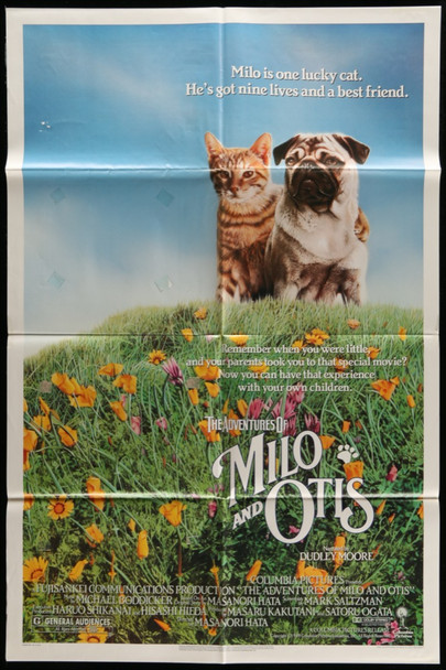 ADVENTURES of MILO AND OTIS, THE (1989) 26140 Columbia PIctures Original U.S. One-Sheet Poster (27x41) Folded  Fine Plus Condition