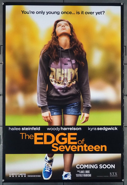 EDGE OF SEVENTEEN, THE (2016) 26373 STX Entertainment Original U.S. One-Sheet Poster (27x40) Rolled  Double-Sided  Very Fine