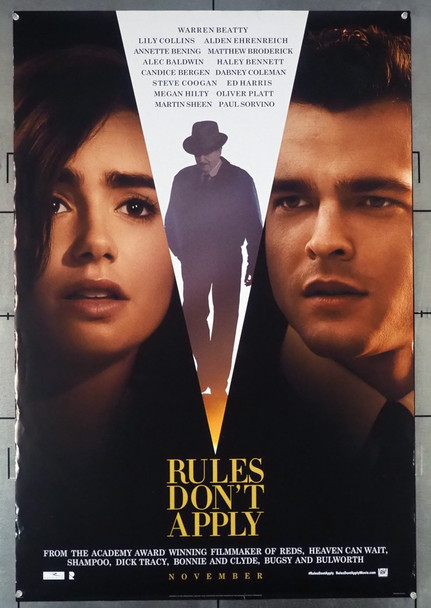 RULES DON'T APPLY (2016) 26405 20th Century Fox Original U.S. One-Sheet (27x40) Rolled  Very Fine Condition