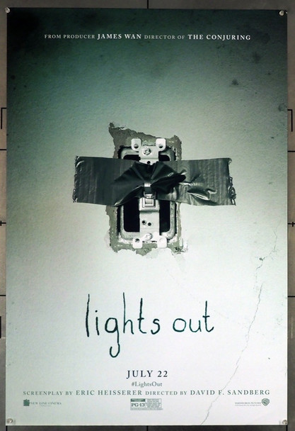 LIGHTS OUT (2016) 26375 Warner Brothers Original U.S. One-Sheet Poster (27x40) Advance Style  Rolled  Fine Plus Condition
