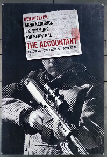 ACCOUNTANT, THE (2016) 26370 Warner Brothers Original U.S. One-Sheet Poster (27x40)  Double-Sided  Very Fine Condition