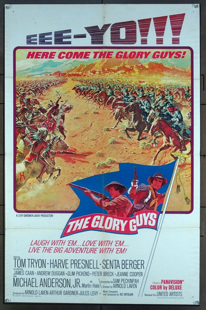 GLORY GUYS, THE (1965) 2251 United Artists Original One-Sheet Poster (27x41) Folded  Average Used (Very Good Plus) Condition