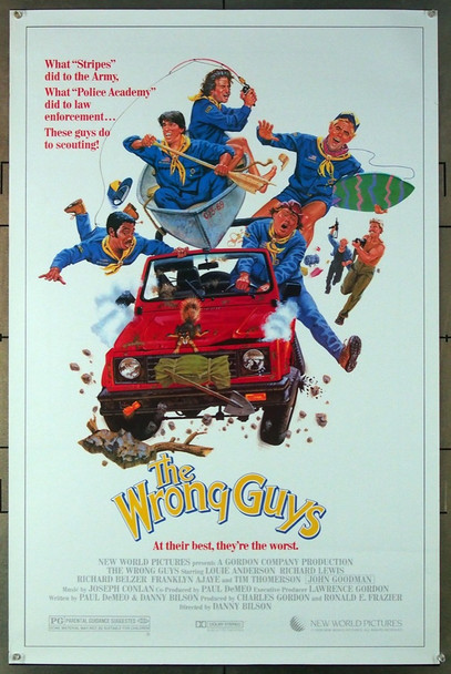 WRONG GUYS, THE (1988) 26719 New World Pictures Original One-Sheet Poster (27x41) Rolled, Very Fine Condition