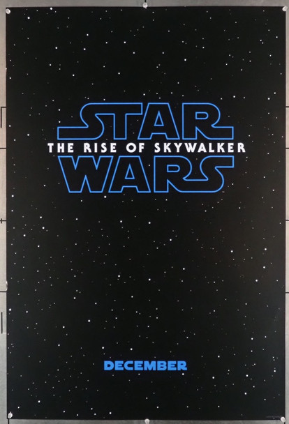 STAR WARS: THE RISE OF SKYWALKER (2019) 28850  Movie Poster Walt Disney Company Original Advance One Sheet Poster (27x40) Rolled  Very Fine