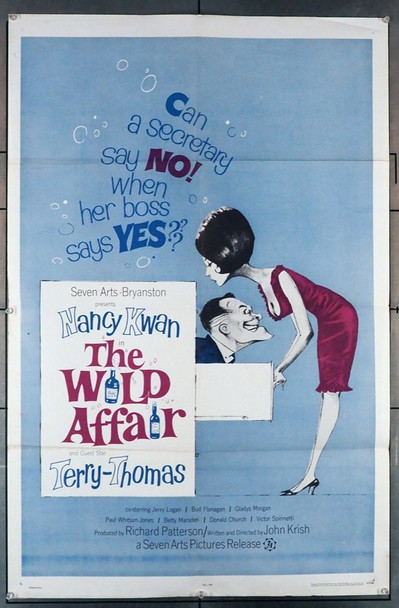 WILD AFFAIR, THE (1963) 4076 7 Arts / Bryanston Original U.S. One-Sheet Poster (27x41) Folded  Very Good Used Condition