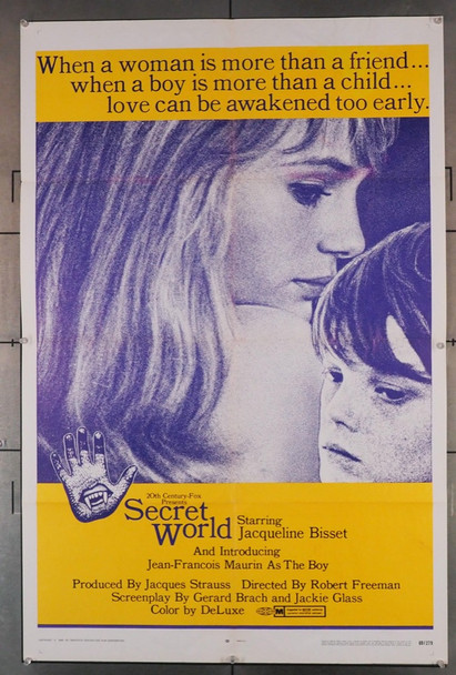 SECRET WORLD (1969) 4028 20th Century Fox Original U.S. One-Sheet Poster (27x41) Folded  Good Condition