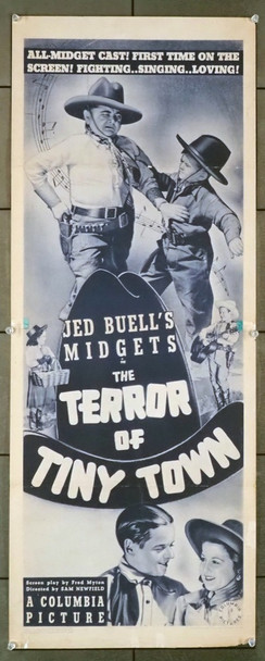TERROR OF TINY TOWN, THE (1938) 28854 Columbia Pictures Original U.S. Insert Poster (14x36) Good to Very Good Condition