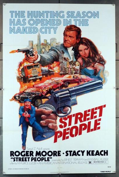 STREET PEOPLE (1976) 4046   American International Original U.S. One-Sheet Poster (27x41) Folded  Fine Plus Condition
