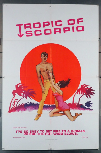 TROPIC OF SCORPIO (1968) 4053 Original U.S. One-Sheet Poster (27x41) Folded  Average Used Condition