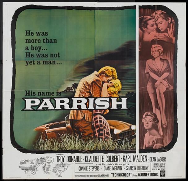 PARRISH (1961) 7718 Warner Brothers Original U.S. Six-Sheet Poster (81x81)  Folded  Fine Plus Condition