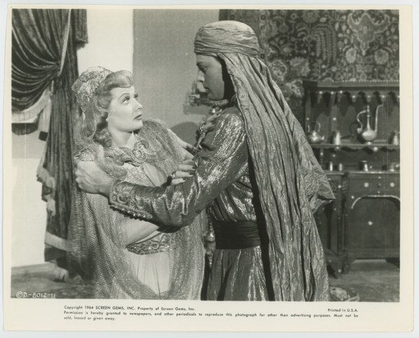 MAGIC CARPET, THE (1951) 28838 Gelatin Silver Print  8x10  Slightly trimmed  LUCILLE BALL  and  JOHN AGAR in THE MAGIC CARPET