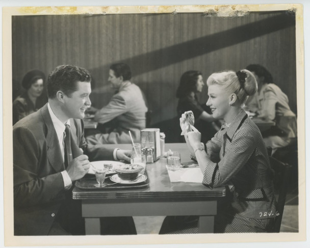 PERFECT STRANGERS (1950) 28839   Ginger Rogers    Dennis Morgan Gelatin Silver Print (8x10)  Fair Condition   Ginger Rogers and Dennis Morgan