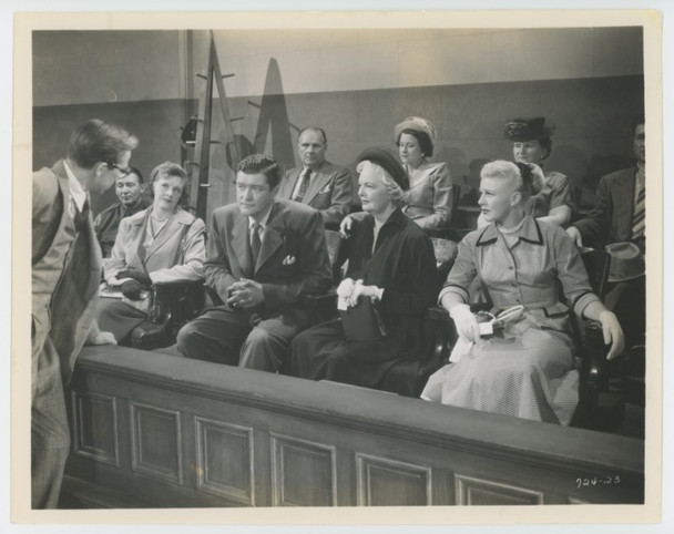 PERFECT STRANGERS (1950) 28840   Dennis Morgan  and  Ginger Rogers Gelatin Silver Print (8x10)  Dennis Morgan and Ginger Rogers