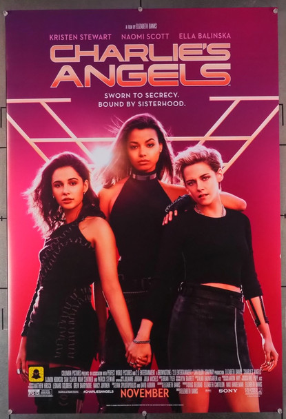 CHARLIE'S ANGELS (2019) 28862  One-Sheet Movie Poster Columbia Pictures Original U.S. One-Sheet Poster (27x40) Double Sided  Fine Plus to Very Fine Condition