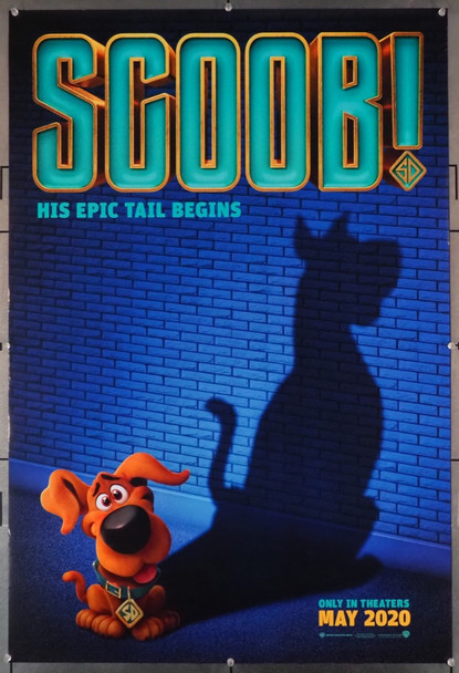 SCOOB! (2020) 28878  Scooby Do Movie Poster Warner Brothers Original U.S. One-Sheet Poster (27x40) Rolled  Very Fine Condition