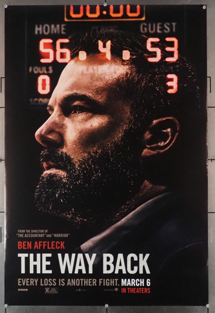 WAY BACK, THE (2020) 28882 Warner Brothers Original U.S. Advance One-Sheet Poster (27x40) Double-Sided  Rolled  Very Fine