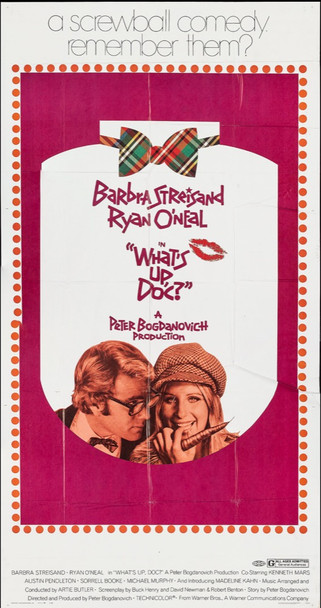 WHAT'S UP, DOC? (1972) 7725 Warner Brothers Original Three-Sheet Poster (41x77) Folded  Fine Plus Condition