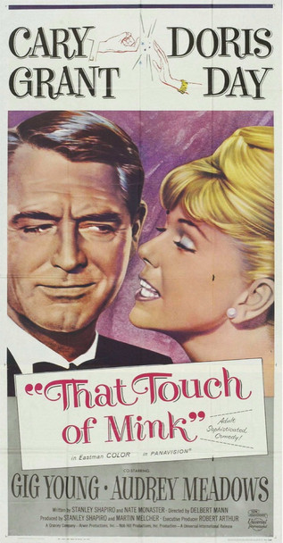THAT TOUCH OF MINK (1962) 7731 Universal PIctures Original Three-Sheet Poster (41x81) Folded  Fine Plus Condition