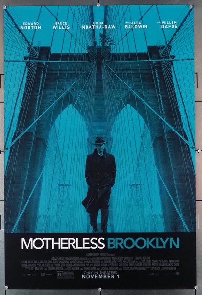 MOTHERLESS BROOKLYN (2019) 28873    Edward Norton Movie Poster Warner Brothers Original U.S. One-Sheet Poster (27x40) Rolled  Very Fine