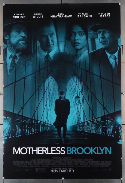 MOTHERLESS BROOKLYN (2019) 28874  Warner Brothers Original U.S. One-Sheet Poster (27x40) Rolled  Double-Sided  Very Fine Condition