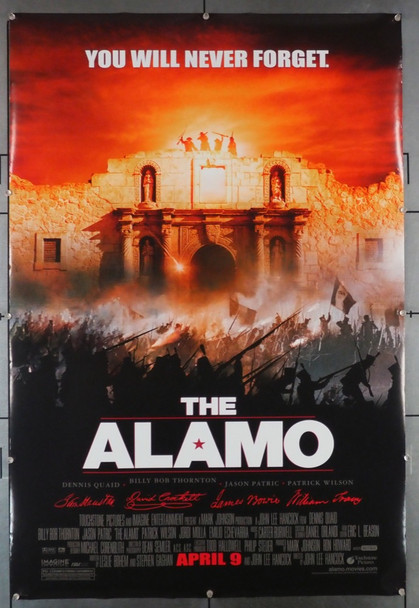 ALAMO, THE (2004) 28915 Buena Vista Original U.S. One-Sheet Poster (27x40)  Rolled  Very Good Plus Condition