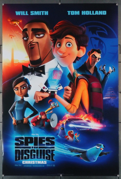 SPIES IN DISGUISE (2019) 28879   Tom Holland and Will Smith Movie Poster 20th Century Fox (now Disney) U.S. One-Sheet Poster Advance Style C   Rolled  Double Sided  Very Fine