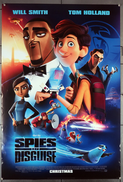SPIES IN DISGUISE (2019) 28880    Tom Holland and Will Smith Movie Poster 20th Century Fox (now Disney) Original U.S. One-Sheet Poster (27x40)  Rolled  Double Sided