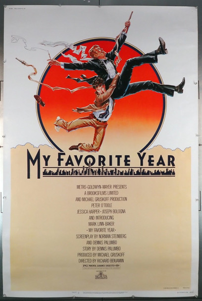 MY FAVORITE YEAR (1982) 7783   Peter O'Toole Movie Poster MGM Original 40x60 Poster  Rolled  Used  Very Good