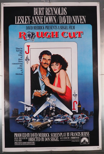 ROUGH CUT (1980) 7784    Burt Reynolds  Lesley-Anne Down  Movie Poster Paramount Pictures Original 40x60 Poster  Rolled  Fine Plus Condition