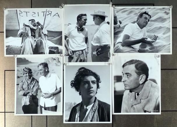 LAWRENCE OF ARABIA (1962) 19338   David Lean et al photographs Gelatin Silver Prints (6) 8x10 photographs on set  LAWRENCE OF ARABIA (1962)