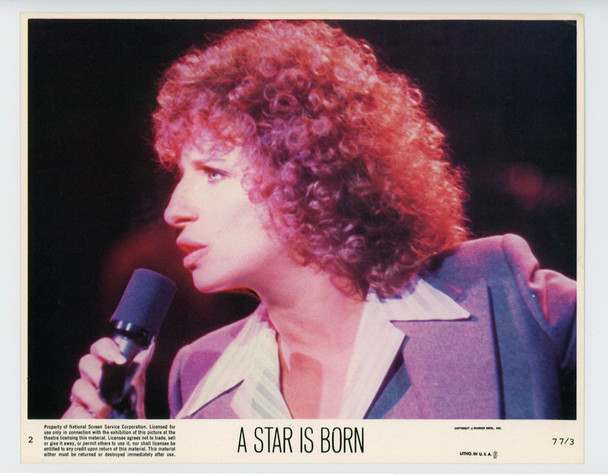 STAR IS BORN, A (1977) 19322 Warner Brothers Original 8x10 Color Lobby Card  Very Fine Condition