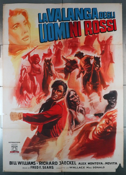 APACHE AMBUSH (1955) 28890 Original Italian 39x55 Poster   Folded  Good Condition Only  Fragile