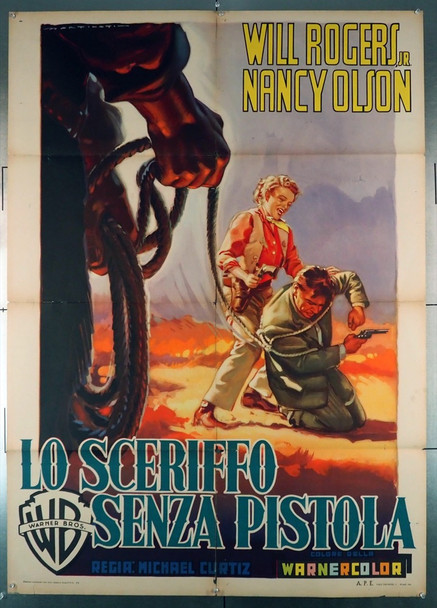 BOY FROM OKLAHOMA, THE   (1954) 28892 Warner Brothers Original Italian 39x55 Poster  Folded  Good Condition Only